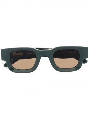 Солнцезащитные очки 542 из коллаборации с Rhode Rhevision Thierry Lasry. Цвет: зеленый