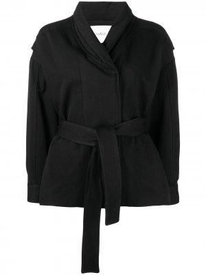 Приталенная куртка с поясом Ba&Sh. Цвет: черный