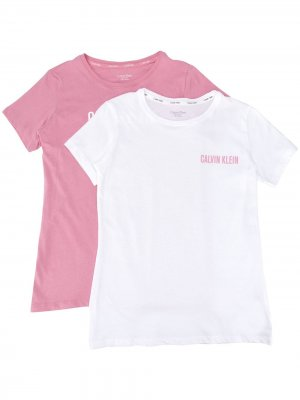 Комплект из двух футболок с логотипом Calvin Klein Kids. Цвет: белый