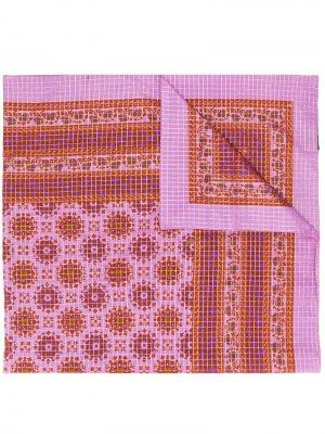 Платок в клетку с принтом пейсли Yves Saint Laurent Pre-Owned. Цвет: розовый