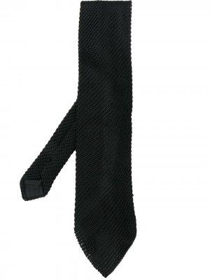 Трикотажный галстук 1990-х годов Gianfranco Ferré Pre-Owned. Цвет: черный