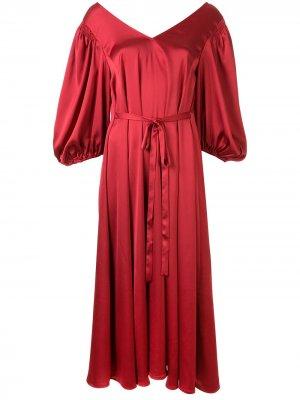 Платье миди Marlen Stine Goya. Цвет: красный