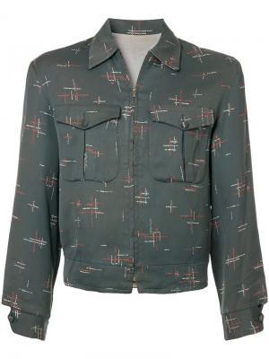 Куртка с узором Rockabilly Fake Alpha Vintage. Цвет: серый