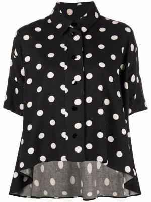 Рубашка в горох с короткими рукавами Antonio Marras. Цвет: черный