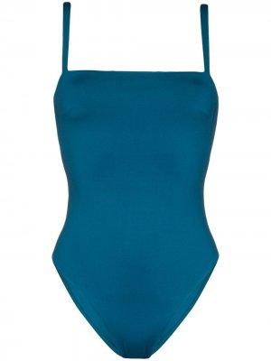 Слитный купальник Palma с квадратным вырезом Asceno. Цвет: синий