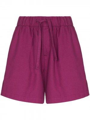 Пижамные шорты широкого кроя TEKLA. Цвет: фиолетовый