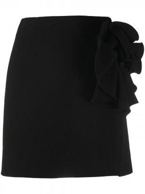 Юбка мини с цветочным принтом Magda Butrym. Цвет: черный