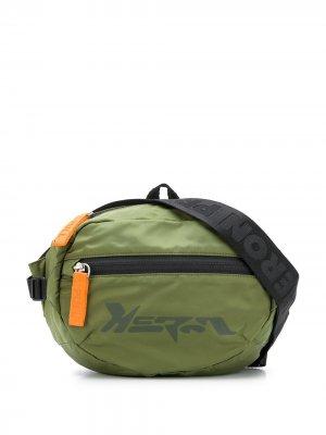 Поясная сумка с логотипом Heron Preston. Цвет: зеленый