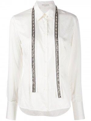 Рубашка в полоску Ermanno Scervino. Цвет: белый