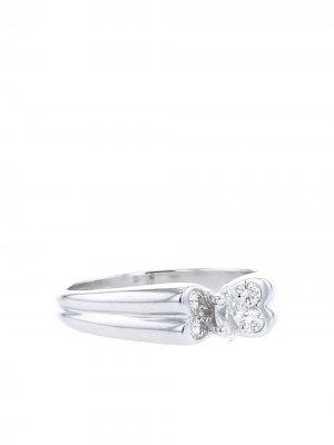 Кольцо 1980-х годов из белого золота с и бриллиантами Van Cleef & Arpels. Цвет: белый