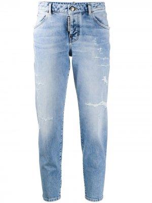 Укороченные зауженные джинсы Dsquared2. Цвет: синий