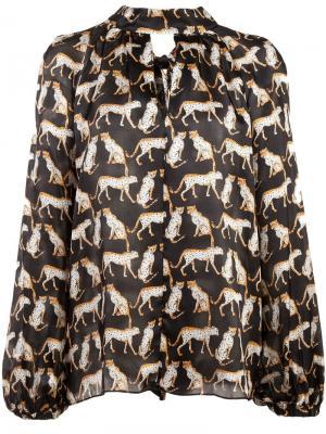 Блузка с принтом Milly. Цвет: черный