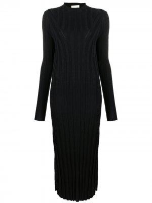 Трикотажное платье Gaya с длинными рукавами Loulou Studio. Цвет: черный