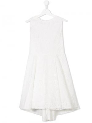 Платье с цветочным кружевом Elsy. Цвет: белый