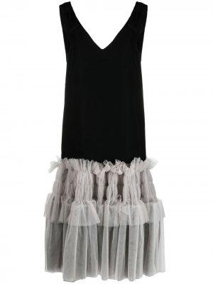 Платье Lady с оборками Viktor & Rolf. Цвет: черный