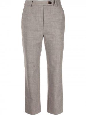 Укороченные брюки строгого кроя Anna Quan. Цвет: серый