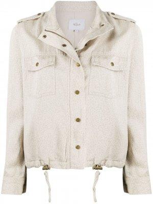 Укороченная куртка Collins с узором Rails. Цвет: нейтральные цвета