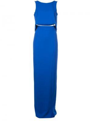 Платье макси Kacie Black Halo. Цвет: синий
