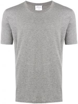 Round neck T-shirt Brioni. Цвет: серый