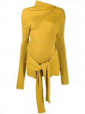 MarquesAlmeida джемпер с высоким воротником и завязками Marques'Almeida. Цвет: желтый