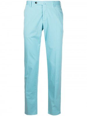 Прямые брюки строгого кроя Pt01. Цвет: синий