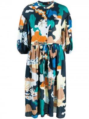 Платье с принтом Stine Goya. Цвет: синий