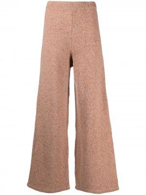 Расклешенные трикотажные брюки 12 STOREEZ. Цвет: оранжевый