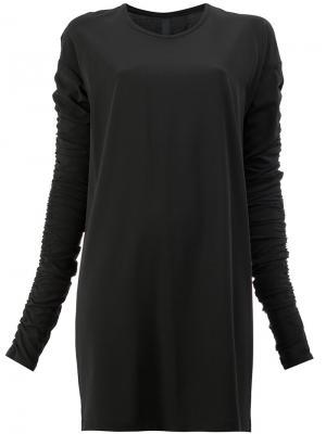 Платье с присборенными рукавами Ilaria Nistri. Цвет: черный
