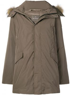 Hooded parka coat Hetregò. Цвет: коричневый