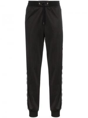 Спортивные брюки с боковыми полосками и логотипом Givenchy. Цвет: черный