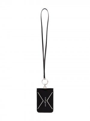 Чехол для телефона с ремешком Givenchy. Цвет: черный