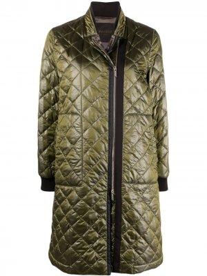 Стеганое пальто Alina-MRP Moorer. Цвет: зеленый