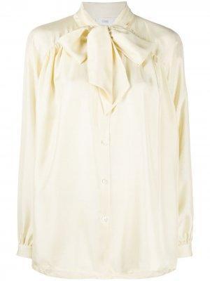 Рубашка с длинными рукавами и бантом Closed. Цвет: желтый