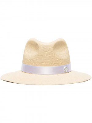 Шляпа-федора Henriette Maison Michel. Цвет: нейтральные цвета