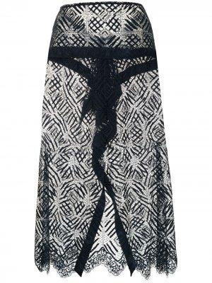 Кружевная юбка Michelle Mason. Цвет: синий