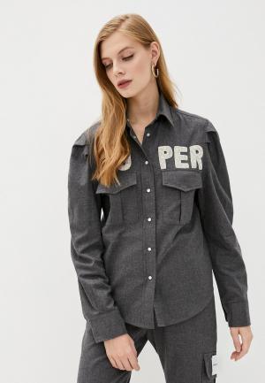 Рубашка Forte Dei Marmi Couture. Цвет: серый