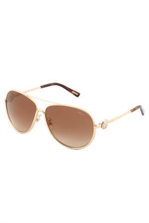 Солнцезащитные очки Chopard. Цвет: золотой