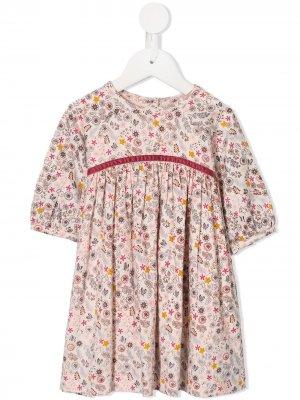 Платье Paloma с цветочным принтом Velveteen. Цвет: розовый