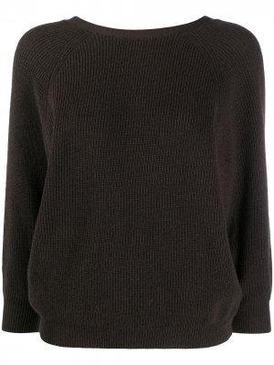 Кашемировый джемпер со сборками Ba&Sh. Цвет: коричневый