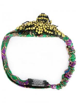 Ободок для волос с кристаллами Gucci. Цвет: разноцветный