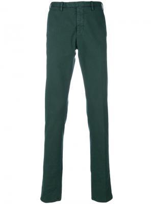 Delloglio классические брюки-чинос Dell'oglio. Цвет: зеленый