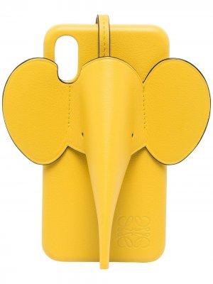Чехол для iPhone X/XS LOEWE. Цвет: желтый