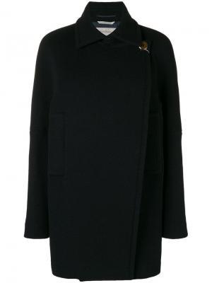 Off-centre button coat Sportmax. Цвет: синий