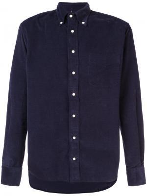 Вельветовая рубашка Gitman Vintage. Цвет: синий
