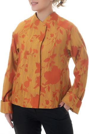 Полупальто Mannon. Цвет: желто-оранжевый