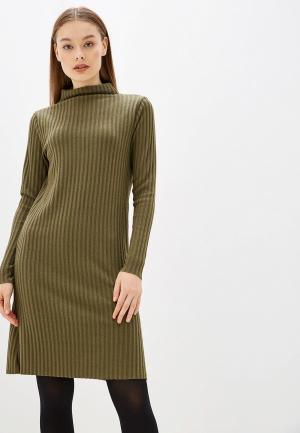 Платье Only. Цвет: хаки