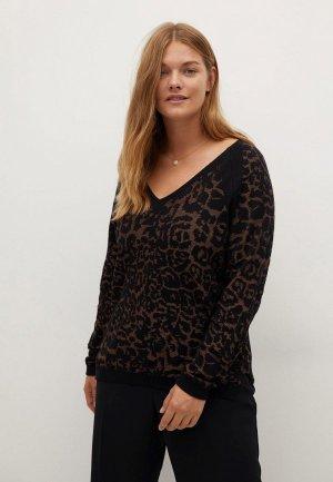 Пуловер Violeta by Mango. Цвет: коричневый