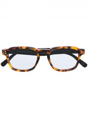Солнцезащитные очки Luce Immaculate в квадратной оправе Retrosuperfuture. Цвет: коричневый