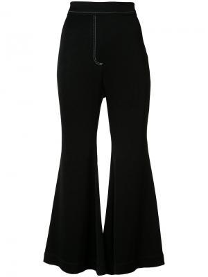 Расклешенные брюки Ellery. Цвет: черный