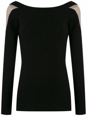 Блузка с длинными рукавами и вставками Gloria Coelho. Цвет: черный